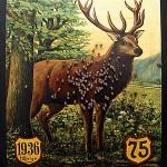Hirschkönigsscheibe aus dem Jahr 1936 des Schützenverein Schladen